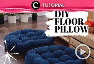Intip cara membuat floor pillow berikut untuk mempercantik dekorasi rumahmu: https://bit.ly/38Oh99A. Video ini di-share kembali oleh Clozetter @aquagurl. Lihat juga tutorial lainnya di Tutorial Section.