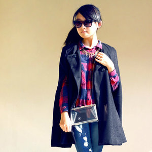 Mixing plaids inspiration, submitted by Clozette Ambassador, Veren Lee #COTW #MixingPlaids