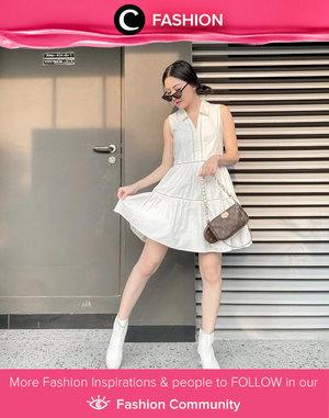 Another white on white outfit idea from Clozette Ambassador @vicisienna. Simak Fashion Update ala clozetters lainnya hari ini di Fashion Community. Yuk, share outfit favorit kamu bersama Clozette.