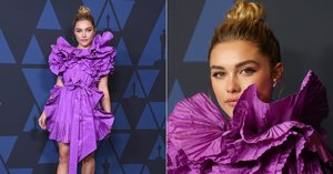 "Midsommar Fans Will Appreciate Florence Pugh's ""Walking Flower"" Dress at the Governors Awards"