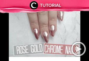 Cantik sekali, ya, kuku berwarna rose gold seperti ini. Intip tutorialnya di: http://bit.ly/2WgUgYz. Video ini di-share kembali oleh Clozetter @dintjess. Lihat juga tutorial updates lainnya di Tutorial Section.