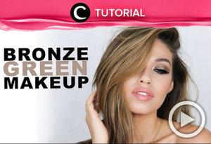 Perpaduan bronze dan hijau sangat pas untuk menciptakan makeup bernuansa summer. Yuk, coba re-create look tersebut dengan tutorial berikut ini http://bit.ly/2veMAUQ. Video ini di-share kembali oleh Clozetter: @kyriaa. Cek Tutorial Updates lainnya pada Tutorial Section.