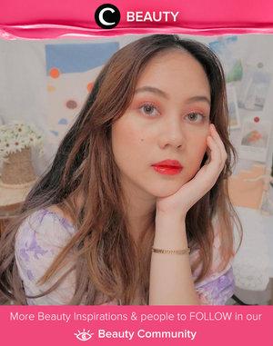 Red and peach kinda makeup by Clozette Ambassador @windana. Simak Beauty Update ala clozetters lainnya hari ini di Beauty Community. Yuk, share produk favorit dan makeup look kamu bersama Clozette.