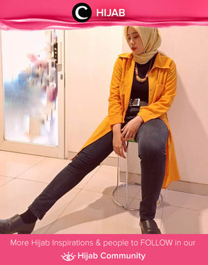 Black and yellow kinda day. Image shared by Clozetter @ekakuncoro. Simak inspirasi gaya Hijab dari para Clozetters hari ini di Hijab Community. Yuk, share juga gaya hijab andalan kamu.