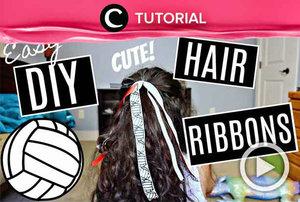 Agar kuliah lebih semangat, kamu bisa tampil ekstra dengan pita sebagai aksesoris rambut. Lihat cara membuatnya di: http://bit.ly/2Yn7uUT. Video ini di-share kembali oleh Clozetter @saniaalatas. Lihat juga tutorial lainnya di Tutorial Section.