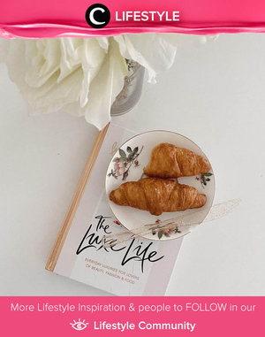 Tomorrow breakfast idea: croissant and a good book to read. Image shared by Clozette Ambassador @cellinikamil. Simak Lifestyle Update ala clozetters lainnya hari ini di Lifestyle Community. Yuk, share momen favoritmu bersama Clozette.