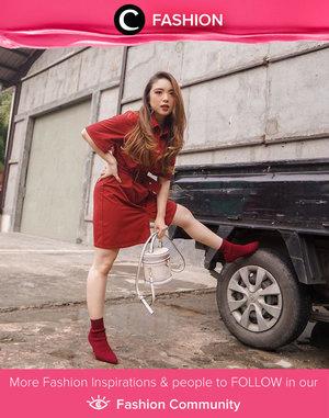 Sunday best in red on red combo, just like Clozette Ambassador @priscaangelina's look. Simak Fashion Update ala clozetters lainnya hari ini di Fashion Community. Yuk, share outfit favorit kamu bersama Clozette.