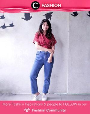 Casual Thursday ala Clozetter @carolinekosasi : Tees, jeans and sneakers! Simak Fashion Update ala clozetters lainnya hari ini di Fashion Community. Yuk, share outfit favorit kamu bersama Clozette.