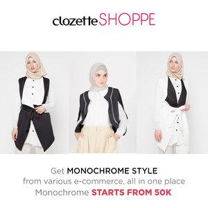Tampil gaya dengan balutan busana monokrom tidak akan membuatmu salah kostum, Clozetters! Belanja busana monokrom favoritmu dari berbagai e-commerce site via #ClozetteSHOPPE MULAI 50k!http://bit.ly/monowbs