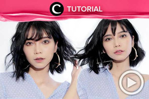 3 easy ways to style your bangs. Check here: http://bit.ly/2F5hwOP. Video ini di-share kembali oleh Clozetter @juliahadi. Lihat juga tutorial lainnya di Tutorial Section.