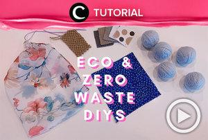 Start your zero-waste life by making these DIYs: https://bit.ly/38jGh9s. Video ini di-share kembali oleh Clozetter @ranialda. Lihat juga tutorial lainnya di Tutorial Section.