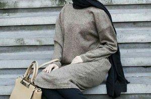 Trendy Hijab with Tunic and Tights for Muslim Girls - Girls Hijab Style & Hijab Fashion Ideas