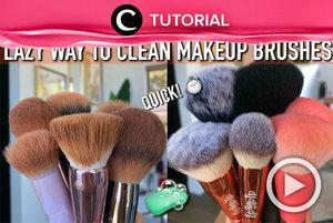 Hacks for lazy gurls who want to clean their makeup brushes with a simple way: http://bit.ly/3929UeZ. Video ini di-share kembali oleh Clozetter @kamiliasari. Lihat juga tutorial lainnya di Tutorial Section.
