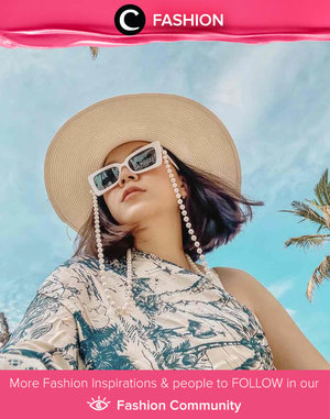 Take your sunnies to a whole new level with fancy glasses strap. Image shared by Clozetter @ossella. Simak Fashion Update ala clozetters lainnya hari ini di Fashion Community. Yuk, share outfit favorit kamu bersama Clozette.