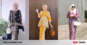 10 Gaya Setelan Batik untuk Style Kondangan Hijab, Pasti Kekinian!
