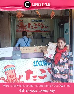 Berkunjung ke Jepang tak akan lengkap tanpa mencoba cemilan yang enak dan fresh di Tsujki Fish Market! Beragam sekali, lho, makanannya. Clozette Crew @febrisekar mencoba octopus press yang rasanya seperti takoyaki tapi versi kerupuk. Yum! Simak Lifestyle Updates ala clozetters lainnya hari ini di Lifestyle Community. Yuk, share juga momen favoritmu.