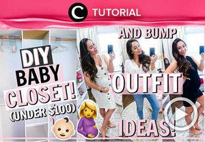 Mempersiapkan lahirnya si Kecil? Intip DIY Baby Closet di: http://bit.ly/2GcMeWR. Video ini di-share kembali oleh Clozetter @aquagurl. Lihat juga tutorial lainnya di Tutorial Section.