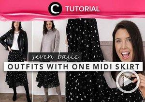 Style your midi skirt like a pro! Steal the tips here: https://bit.ly/3mpZnjG. Video ini di-share kembali oleh Clozetter @juliahadi. Lihat juga tutorial lainnya di Tutorial Section.