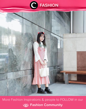 Dolled up in red tartan dress. Simak Fashion Update ala clozetters lainnya hari ini di Fashion Community. Image shared by Clozetter @yumiiikoo. Yuk, share outfit favorit kamu bersama Clozette.
