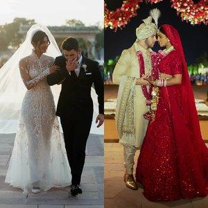 Modern or traditional, which one is your favorite? . 📸@priyankachopra #ClozetteID