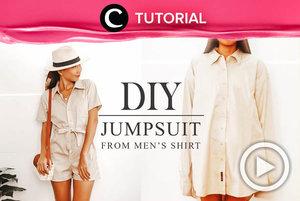 Mumpung sedang punya banyak waktu, kamu bisa mencoba tutorial ini untuk membuat kemeja tak terpakai menjadi jumpsuit yang stylish: https://bit.ly/2ViNIW4. Video ini di-share kembali oleh Clozetter @dintjess. Lihat juga tutorial lainnya melalui Tutorial Section.