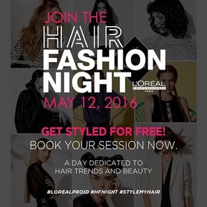 Join The Hair Fashion Night & get free hair styling at Toni & Guy Kota Kasablanka, May 12th 2016 at 4.00 PM.  Untuk berkesempatan mendapat tiketnya, kamu harus ikuti beberapa tahapan berikut ini: follow @lorealproid @ClozetteID, regram dan mention @lorealproid @ClozetteID dan sertakan hashtag #LorealPro #HFNight #GlamTeam #StyleMyHair #HairMoment #HairTrends #OnlyInSalon #ClozetteIDxLorealPro di caption sebelum tanggal 12 Mei 2016.  Pemenang akan kami hubungi via private message.  Good luck, Clozetters! #ClozetteID