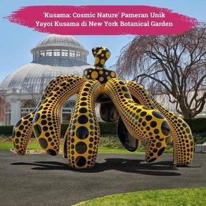 """Seniman asal Jepang, Yayoi Kusama menampilkan pameran terbarunya berjudul """"KUSAMA: Cosmic Nature"""". dikutip dari hypebeast.com. pameran ini diselenggarakan di New York Botanical Garden hingga 30 April 2021.Membentang di taman seluas 250 hektar, beberapa karya yang ditampilkan dalam pameran ini antara lain """"Flower Obsession"""", patung """"Dancing Pumpkin"""", dan """"I Want to Fly to the Universe"""" setinggi empat meter.Clozetters yang ada di New York, bisa mampir kesana, nih! Jangan lupa protokol kesehatan ya📷@hypebeast#ClozetteID#ClozetteXCoolJapan #ClozetteIDCoolJapan"""