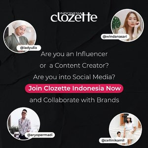 Wanna be in a squad with us? We would like to invite you to join Clozette Squad and connect you with brands and bussiness. Not only as a partner but also make friends with us and other influencers/content creators. Be a part of us! Click here http://bit.ly/clozettesquad or click link on bio. Good luck!#ClozetteID #ClozetteSquad