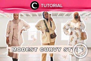 Tubuh curvy bukan menjadi halangan untuk tetap tampil stylish dengan hijab. Intip tipsnya di: http://bit.ly/3pSGs18. Video ini di-share kembali oleh Clozetter @saniaalatas. Lihat juga tutorial lainnya di Tutorial Section.