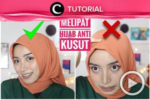 Hijabmu kerap kusut ketika digunakan? Coba trik melipat hijab seperti di video berikut: http://bit.ly/2wSbFv4. Video ini di-share kembali oleh Clozetter @shafirasyahnaz. Lihat juga tutorial lainnya yang ada di Tutorial Section.
