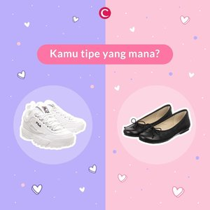 Kamu tipe yang mana nih, Clozetters? Tipe yang suka menggunakan flatshoes atau lebih nyaman menggunakan sneakers? Tulis jawabanmu pada kolom komentar ya!✨#ClozetteID
