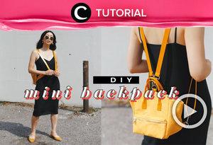Calling all bacpack lovers! You can now make your own backpack with this video: https://bit.ly/3fnGwBa. Video ini di-share kembali oleh Clozetter @zahirazahra. Lihat juga tutorial lainnya yang ada di Tutorial Section.