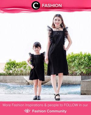 Mother-daughter matching dresses in black for this weekend. Simak Fashion Update ala clozetters lainnya hari ini di Fashion Community. Image shared by Clozette Ambassador: @vicisienna. Yuk, share outfit favorit kamu bersama Clozette.