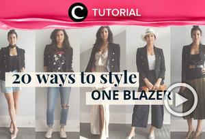 1 blazer, 20 ways! Intip 20 inspirasi mix and match blazer yang bisa kamu tiru : https://bit.ly/2Tn9dVG. Video ini di-share kembali oleh Clozetter @kyriaa. Lihat juga tutorial lainnya yang ada di Tutorial Section.