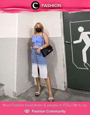 Tampil cantik dengan warna baby blue, yuk! Kamu bisa tiru style Clozette Ambassador @lidyaagustin01 ini, Clozetters. Simak Fashion Update ala clozetters lainnya hari ini di Fashion Community. Yuk, share outfit favorit kamu bersama Clozette.