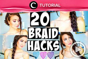 Suka dengan gaya rambut kepang? Ada 20 gaya kepangan rambut berbeda untuk berganti gaya setiap hari http://bit.ly/2sO3bhp. Video ini di-share kembali oleh Clozetter: @aquagurl. Cek Tutorial Updates lainnya pada Tutorial Section.