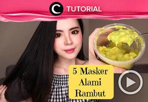 Tak baik membiarkan rambutmu terus terkena bahan kimia. Coba buat masker rambut dari bahan-bahan alami seperti ini: http://bit.ly/2YE7Uld. Video ini di-share kembali oleh Clozetter @kyriaa. Lihat juga tutorial updates lainnya di Tutorial Section.