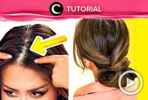 Hair do elegan ini bisa dilakukan walaupun rambutmu tipis. Intip caranya di: http://bit.ly/2Iftwht. Video ini di-share kembali oleh Clozetter @kyriaa. Cek juga tutorial udates lainnya di Tutorial Section.