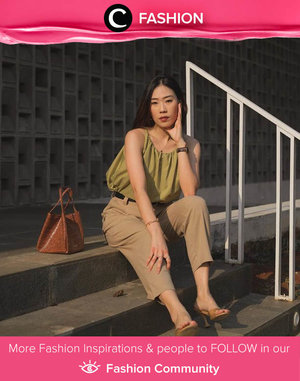 Earth toned outfit to start your Monday activities. Image shared by Clozette Ambassador @janejaneveroo. Simak Fashion Update ala clozetters lainnya hari ini di Fashion Community. Yuk, share outfit favorit kamu bersama Clozette.