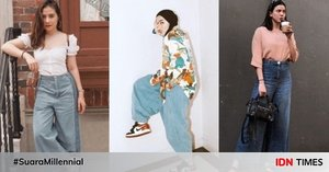 10 Mix & Match Denim Culotte ala Seleb, Bikin Gaya Makin Epic!