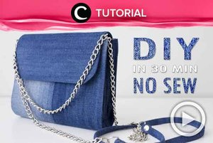 Transform your old jeans into a pretty purse bag without sewing! Check the tutorial here: http://bit.ly/2lCRY4G. Video ini di-share kembali oleh Clozetter @dintjess. Temukan juga tutorial menarik lainnya di Tutorial Section.