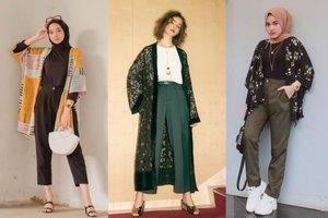 7 Gaya Ke Kantor Dengan Outer Kimono Untuk Si Lengan Besar, Termasuk Untuk Hijaber