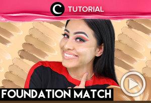 Here's how to find your foundation shade: https://bit.ly/2IWDaJU. Video ini di-share kembali oleh Clozetter @kamiliasari. Lihat juga tutorial lainnya di Tutorial Section.