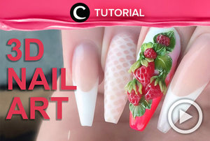 3D Acrylic Strawberries - Fresh Summer Fruits 3D Nail Art http://bit.ly/2BrThea. Video ini di-share kembali oleh Clozetter: @zahirazahra. Cek Tutorial Updates lainnya pada Tutorial Section.