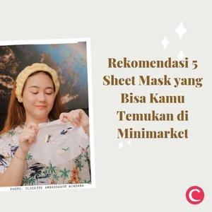 """Sheet mask bisa dibilang menjadi salah satu """"kuncian"""" skincare banyak orang. Sayangnya menemukan skincare ini belum terlalu mudah, kamu harus mengunjungi department store atau berbelanja online untuk menemukan banyak masker tisu ini. Tak perlu khawatir, melalui video berikut Clozette sudah merangkum beberapa sheet mask yang bisa kamu temukan secara mudah di mini market terdekat. Yuk, intip untuk cari tahu! #ClozetteID #ClozetteIDVideo.📷 @eminacosmetics @ariul_id @garnierindonesia @pondsindonesia @wardahbeauty"""