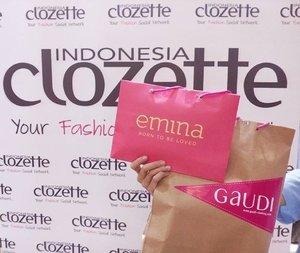 Setiap pengunjung #gaudiplaydate akan mendapat goodie bag lho dari Gaudi dan Emina Cosmetics! Yaaay! #clozetteid