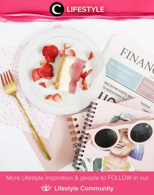 Make your dessert yummy and pwetty! Image shared by Clozette Ambassador @rimasuwarjono. Simak Lifestyle Update ala clozetters lainnya hari ini di Lifestyle Community. Yuk, share momen favoritmu bersama Clozette.
