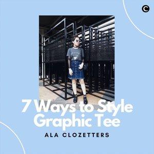 Mau di-styling menjadi gaya edgy, casual, sampai vintage, graphic tee memang selalu pas untuk di-mix n' match! Seperti Clozetters yang menciptakan gaya khas mereka dengan graphic tee. Kepo dong, ada berapa sih koleksi graphic tee kamu? . 📷 @japobs @steviiewong @kathlakz @yukianas @lulut_m @priscaangelina @michellageorgia #ClozetteID #ClozetteIDVideo #GraphicTee #FashionTips #OOTD #WIWT