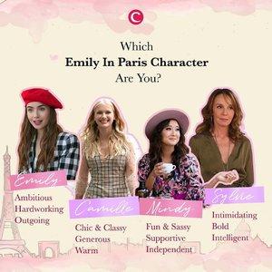 Raise your hand kalau kamu sudah menonton Emily in Paris! Serial yang rilis pada 2 Oktober lalu di Netflix ini langsung mencuri perhatian Clozette Crew, lho! Terutama outfit dan karakter-karakter perempuannya yang kurang lebih bisa menggambarkan sosok perempuan modern masa kini. Di antara keempat tokoh perempuan di serial ini, mana sih yang bisa menggambarkan diri kamu banget? Emily, Camille, Mindy, atau Sylvie? Tulis di kolom komentar ya, Clozetters! #ClozetteID