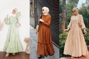 8 OOTD Dress Hijab Modern Yang Santun Bisa Buat Kondangan Dan Lebaran